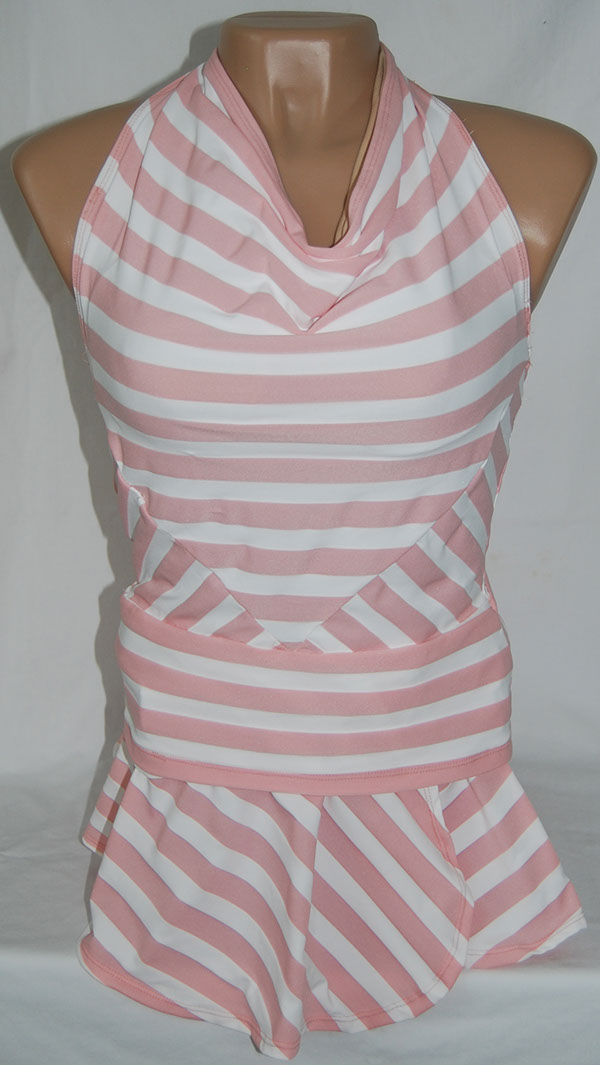 striped Halter with Circle Skirt